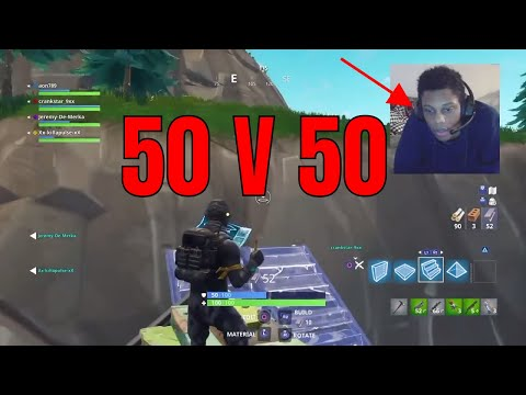 THE *NEW* UPGRADED 50 VS 50 Gamemode FIRST WIN In Fortnite: Battle Royale! + NEW STICKY BOMB