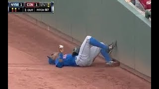 MLB Sliding Catches Near the Wall