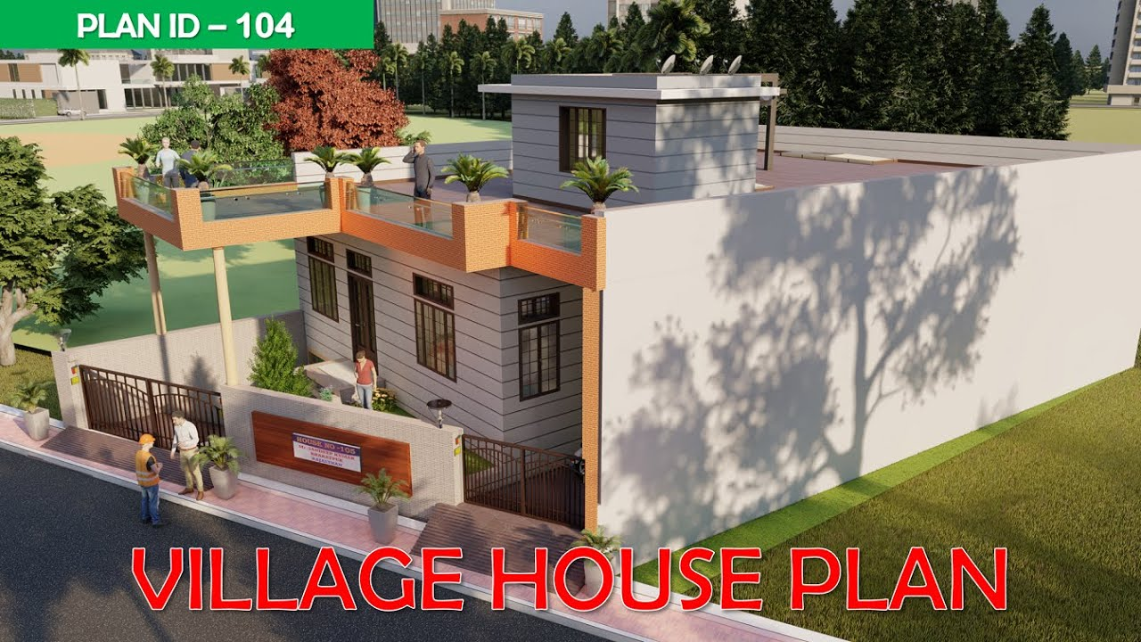 village house plan - 3 Bedroom House Plan   @BUILD IT HOME   𝗣𝗹𝗮𝗻 𝗜𝗗 - 105