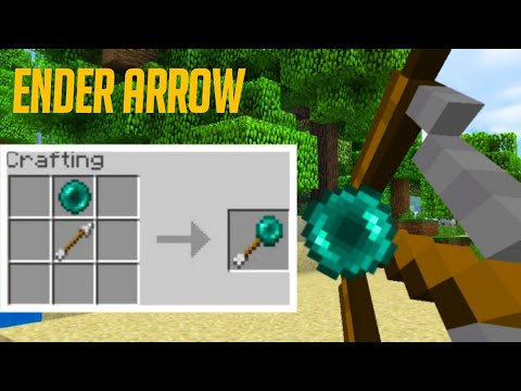 How To Make A Ender Arrow In Minecraft No Add-ons!! (Pocket Edition, Xbox, Ps4, Bedrock)