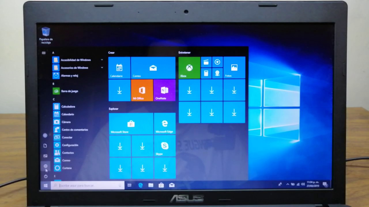 Formateo ASUS X55C Windows 10 Paso a paso