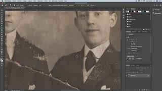 Retouche d'une photo ancienne en temps réel - Renaud Scalbert, Généalogiste