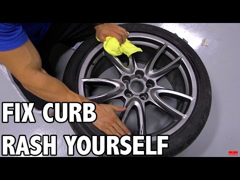 how to repair gutter rash scratched wheels how to save money and do it yourself. Black Bedroom Furniture Sets. Home Design Ideas