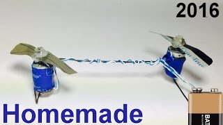 How to Make a HELICOPTER with MOTOR at Home that Flies Easy