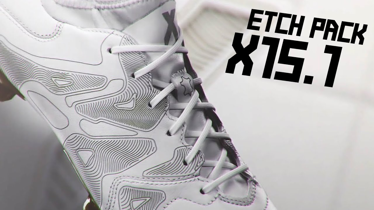 551b1b03340 ... adidas x15.1 Etch Pack leather white football boots - YouTub ...
