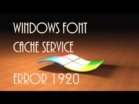 Solved Error 1920 Windows Font Cache Service Failed to Start MS Office Installation