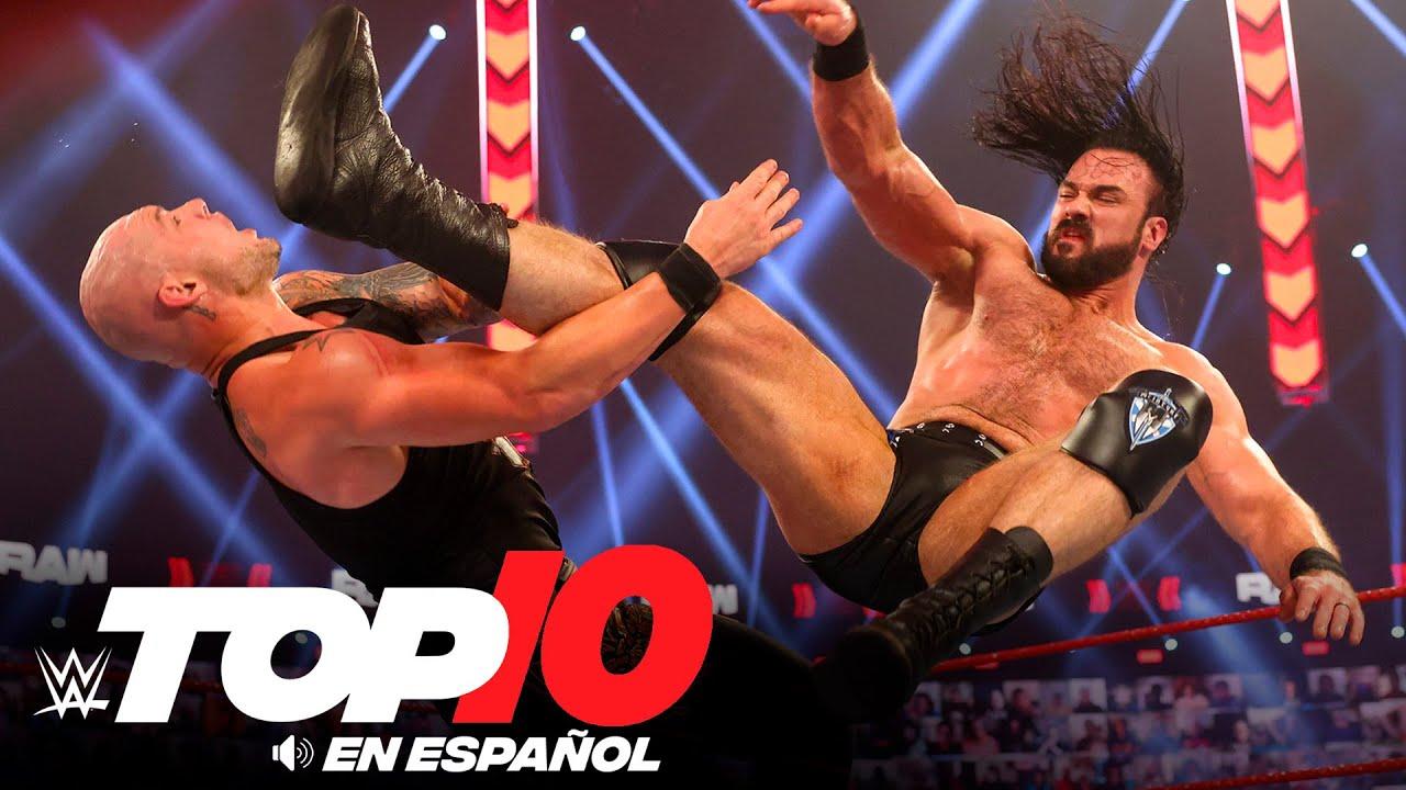 Top 10 Mejores Momentos de RAW: WWE Top 10, Abr 7, 2021