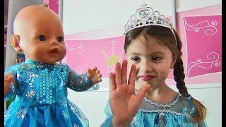 Dominika and Doll play with Princess Dresses for kids