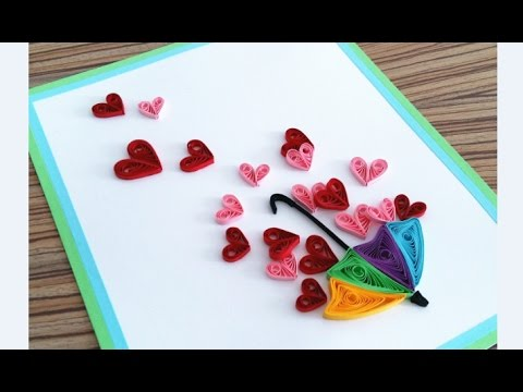 Quilling Heart For Valentine S Day Gift Ideas4 Paper Card Youtube