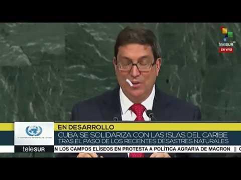 Intervención de Bruno Rodríguez Canciller de Cuba en la ONU