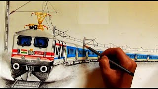 GATIMAAN EXPRESS raising dust, SKETCHING