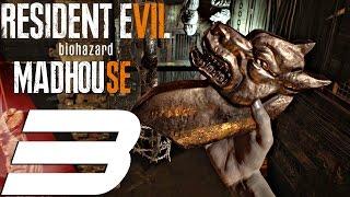 Resident Evil 7 - Madhouse Mode Walkthrough Part 3 - Jack Baker Chainsaw BOSS (PS4 PRO)