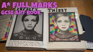 A* GCSE Unit 1 Art Sketchbook (FULL MARKS)