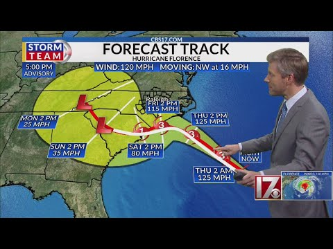 7 p.m. Hurricane Florence Update - Wed., Sept. 12