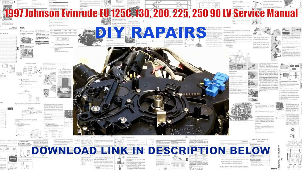 1997 johnson evinrude eu 125c 130 200 225 250 90 lv service rh youtube com 1977 Johnson 70 HP Outboard Johnson Outboard Motor Year Identification