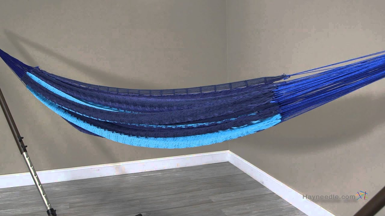 island bay xxl caribbean stripe thick string mayan hammock with adjustable stand and wheels   youtube island bay xxl caribbean stripe thick string mayan hammock with      rh   youtube