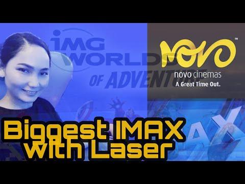 LARGEST IMAX WITH LASER CINEMA   #NOVOCINEMAS   IMG WORLDS OF ADVENTURE   #GREATTIMEOUT 👽🎡🎢