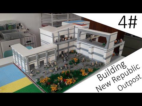 Building New Republic Outpost Moc #4 Das Speeder Hangar