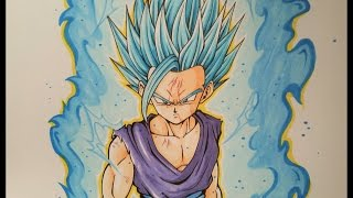 Drawing Teen Gohan Super Saiyan Blue 2 | TolgArt