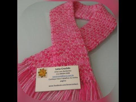 Cachecol de lã no tear (infantil)