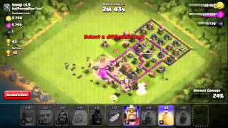 Clash of Clans 3* ATTACK - TH7 Long Dls Combo Attack Giant Healer Wizz Arc Hogs