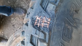 Reifenreparatur in Afrika
