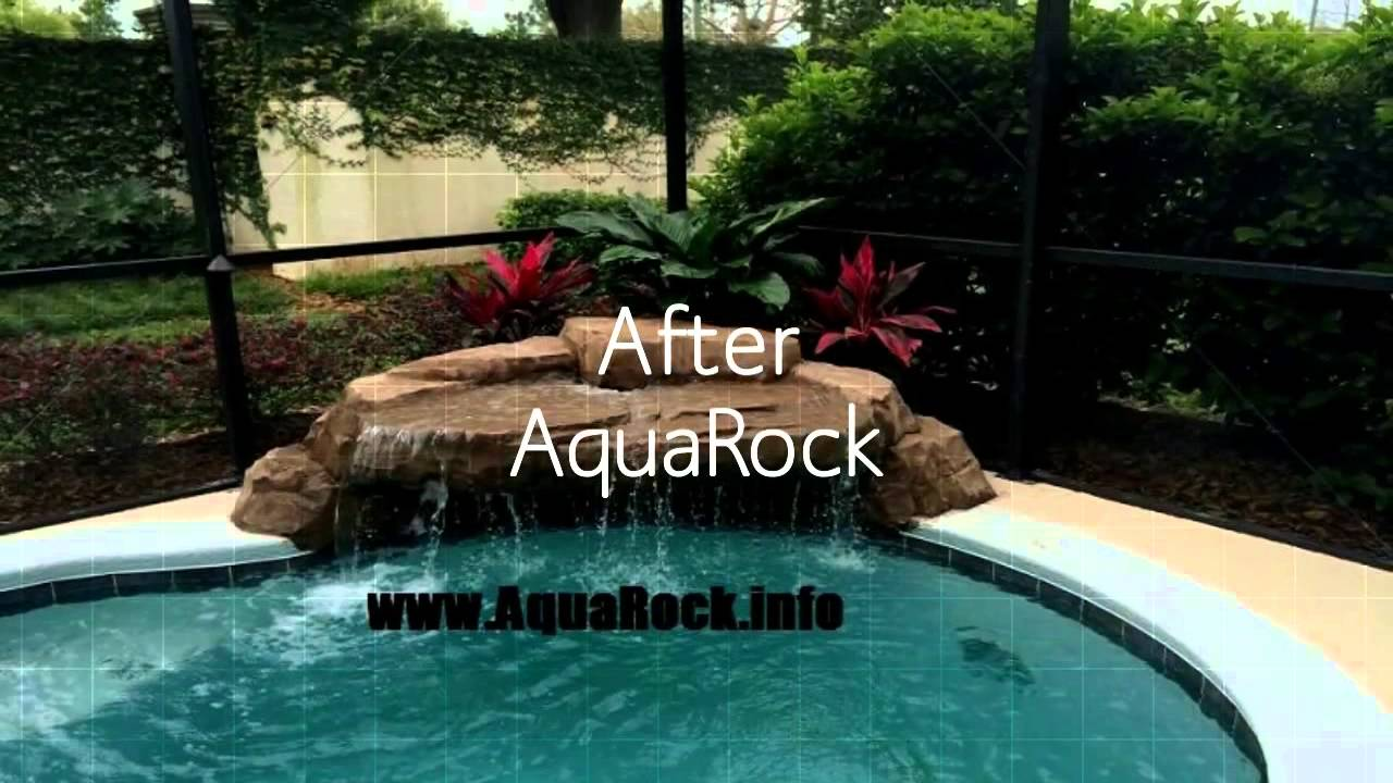 aquarock swimming pool waterfalls custom luxury pool waterfall builder