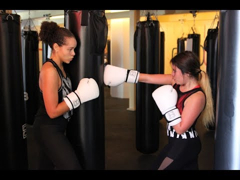 Taking a boxing class at Box Union in Santa Monica - ALOLEY