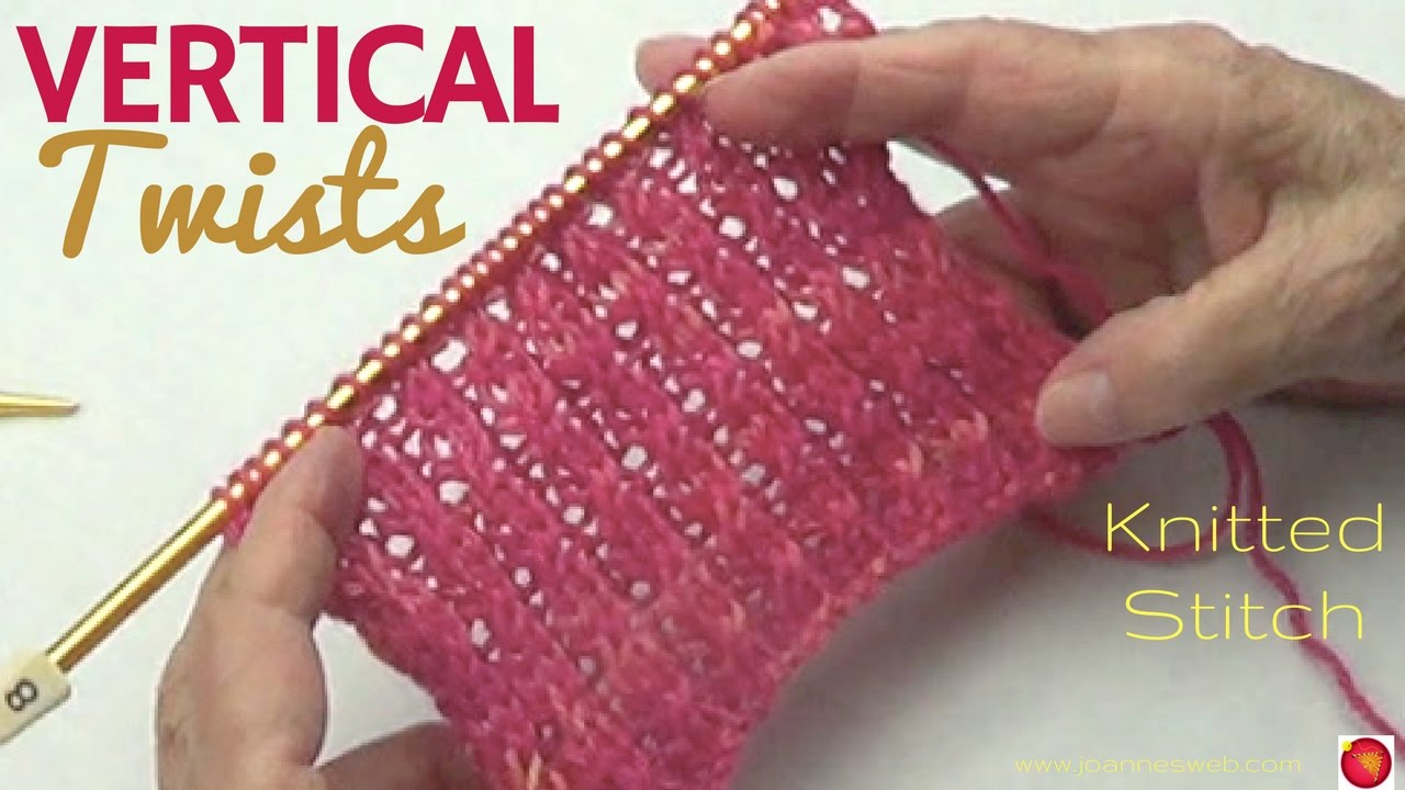 Vertical Twist Stitch Ribbing Stitch With Twist Youtube