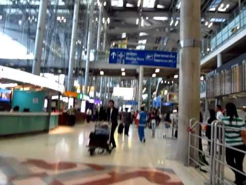 Suvarnabhumi BKK Airport Arrivals get Phone SIM Card Mobile & Taxi Stand Tips