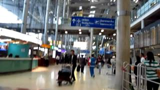 Suvarnabhumi BKK Airport Arrivals get Phone SIM Card Mobile & Taxi Stand Tips - Phil in Bangkok