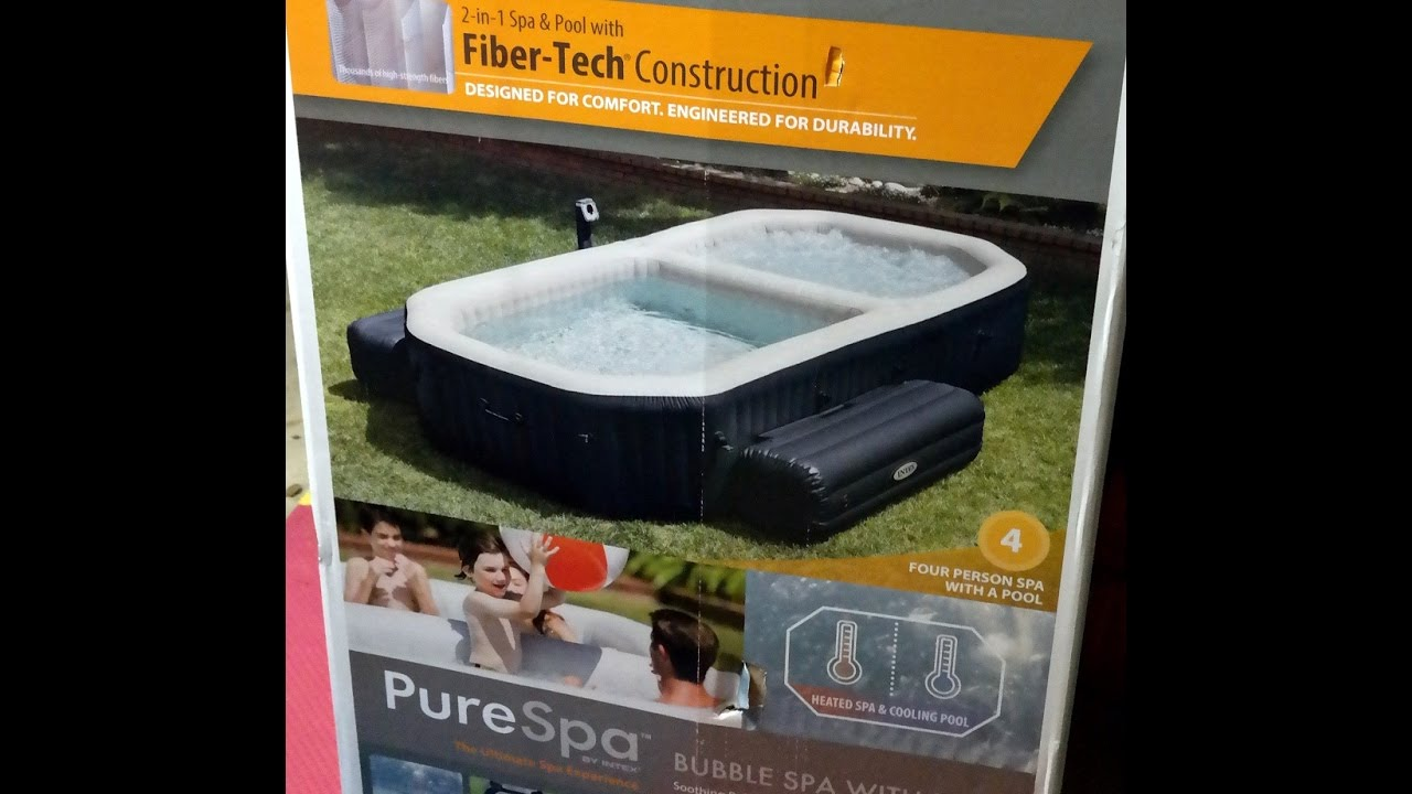 Intex PureSpa Bubble Hot Tub & Pool Set - YouTube