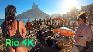 Rio De Janeiro, BRAZIL - IPANEMA Beach, Walking Tour in RIO (Narrated) City Walks【4K】☀️🇧🇷