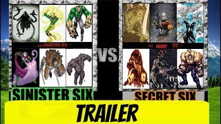 Sinister Six Vs Secret Six Trailer! FOR WWAW!