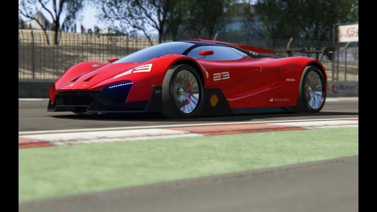 Ferrari Xezri Concept Competizione at Dubai Autodrome