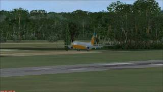 FSX: Orbit Airlines comes in for a landing in Cancun from Miami