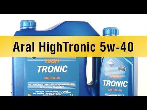 aral hightronic 5w 40 youtube