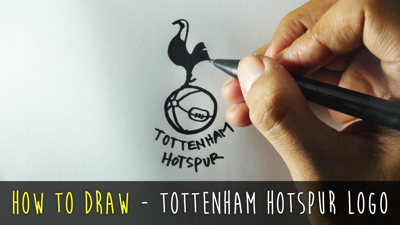 How To Draw A Cartoon Tottenham Hotspur Logo Tutorial Step By Step Youtube