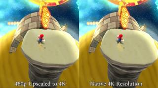 [TAS] Super Mario Galaxy Default Resolution vs 4K HD Resolution