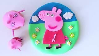 How to make Peppa Pig Cake DIY Play-Doh Recipe - CLAY ART TV