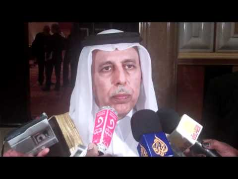 Abdallah AlMahmood, State Minister Foreign Affairs of Qatar w Media in Doha