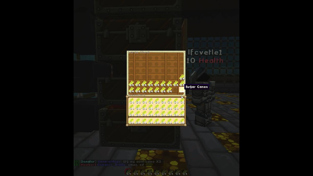 Minecraft Trick - Moving items from chest to inventory quickly