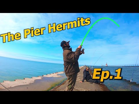 Pier Fishing SPRING Salmon - EASY LIMITS!!! (The Pier Hermits Episode 1)