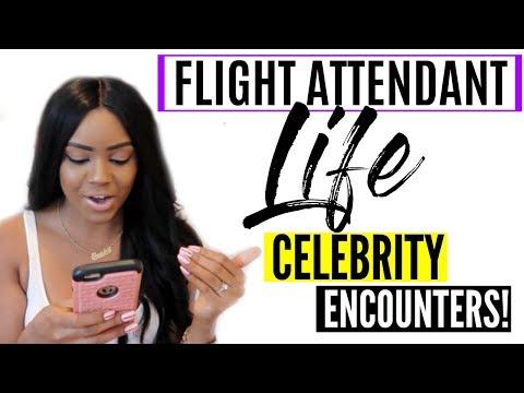 Flight Attendant Life  | CELEBRITY ENCOUNTERS!!