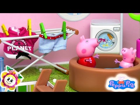 Video peppa pig se muda a una casa nueva grandisima con for Peppa pig en piscina