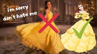 the problem with belle's dress 😶🥀⚜️