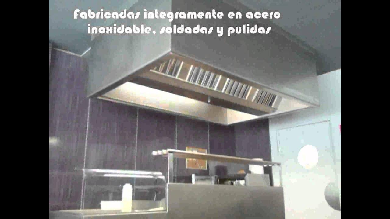Campanas extractoras industriales youtube - Campana extractora cocina industrial ...