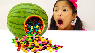 Wendy Pretend Play Chocolate Candy Watermelon Surprise Challenge