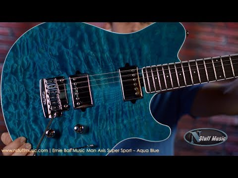 Ernie Ball Music Man Axis Super Sport - Aqua Blue