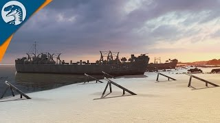 HISTORIC OMAHA BEACH LANDINGS, D-DAY 1944 | Steel Division: Normandy 44 Multiplayer Gameplay